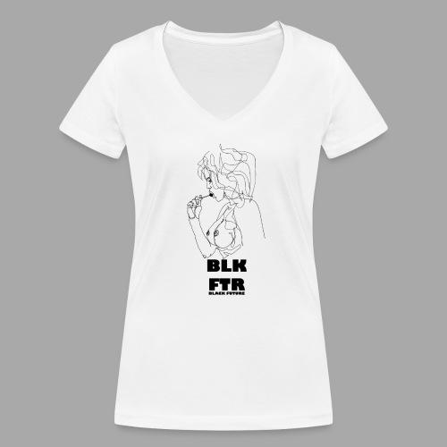 BLK FTR N°6 - T-shirt ecologica da donna con scollo a V di Stanley & Stella