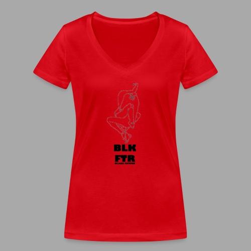 BLK FTR N°7 - T-shirt ecologica da donna con scollo a V di Stanley & Stella