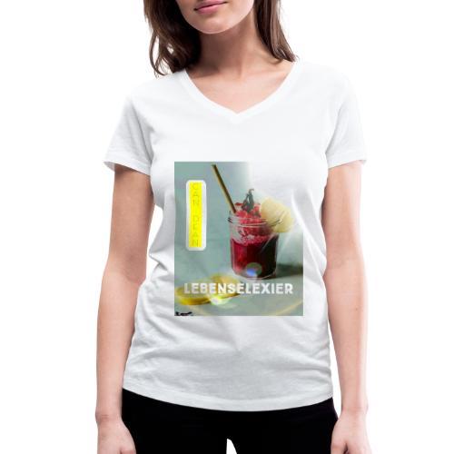 Lebenselixier - Frauen Bio-T-Shirt mit V-Ausschnitt von Stanley & Stella