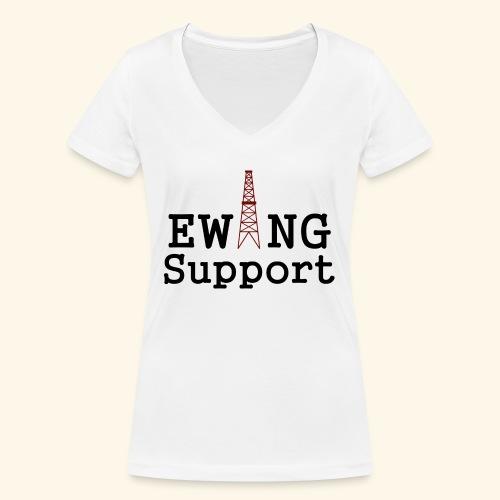 Ewing Support - Women's Organic V-Neck T-Shirt by Stanley & Stella