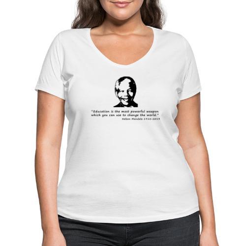 Nelson Mandela - Frauen Bio-T-Shirt mit V-Ausschnitt von Stanley & Stella