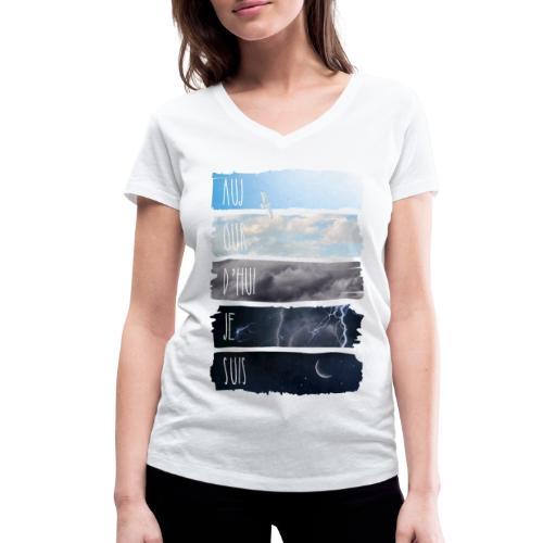 AUJOURD HUI JE SUIS - T-shirt bio col V Stanley & Stella Femme