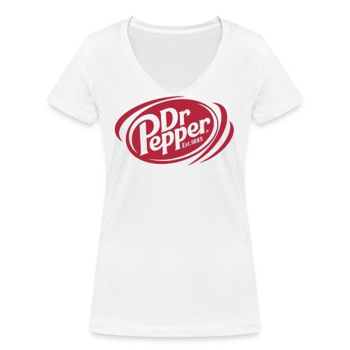 Dr Pepper The Logotype - Ekologisk T-shirt med V-ringning dam från Stanley & Stella