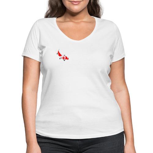 Koi - Frauen Bio-T-Shirt mit V-Ausschnitt von Stanley & Stella