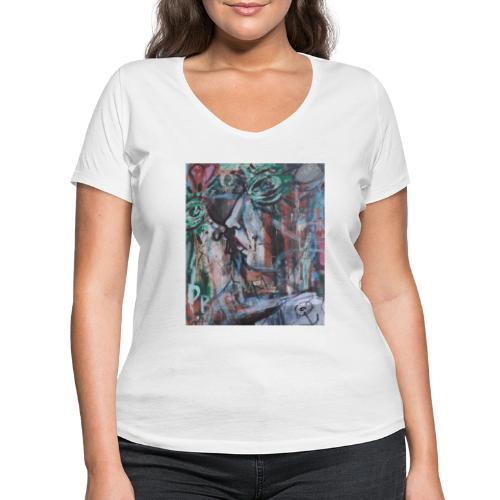 Il bacio - T-shirt ecologica da donna con scollo a V di Stanley & Stella