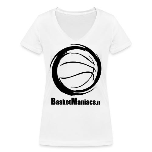 Basket Maniacs - T-shirt ecologica da donna con scollo a V di Stanley & Stella