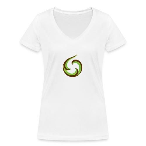 smartphone aroha - Stanley & Stellan naisten v-aukkoinen luomu-T-paita