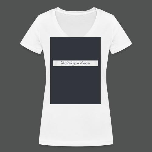 Illustrate your illusions - Økologisk Stanley & Stella T-shirt med V-udskæring til damer