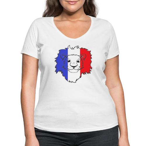 Lion France - T-shirt bio col V Stanley & Stella Femme