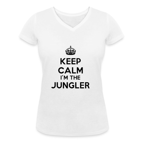 Keep calm I'm the Jungler - T-shirt bio col V Stanley & Stella Femme