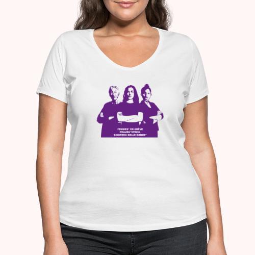 Drei starke Frauen - Frauen Bio-T-Shirt mit V-Ausschnitt von Stanley & Stella