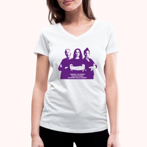 Tre donne forti - T-shirt ecologica da donna con scollo a V di Stanley & Stella