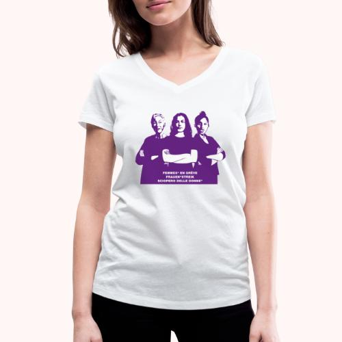 Trois femmes fortes - T-shirt bio col V Stanley & Stella Femme