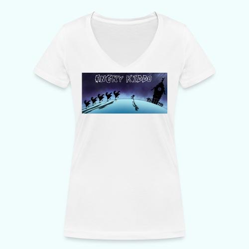 Angry kiddo run - T-shirt bio col V Stanley & Stella Femme