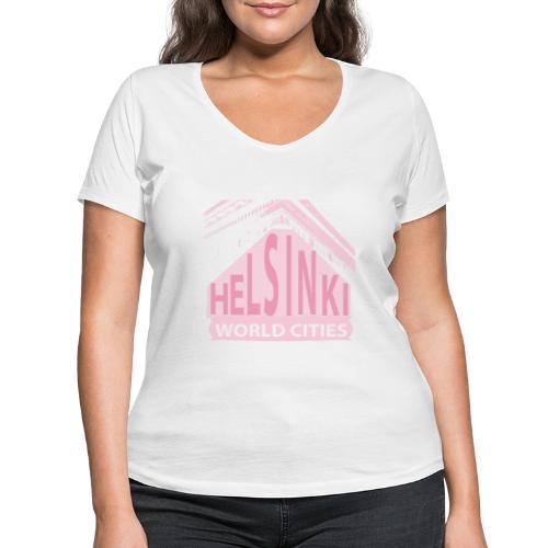 Helsinki light pink - Women's Organic V-Neck T-Shirt by Stanley & Stella