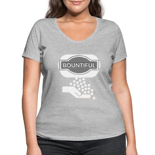 Bontiul gray white - Women's Organic V-Neck T-Shirt by Stanley & Stella