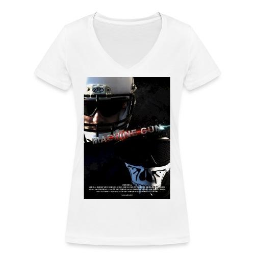 affichemachingun02 - T-shirt bio col V Stanley & Stella Femme