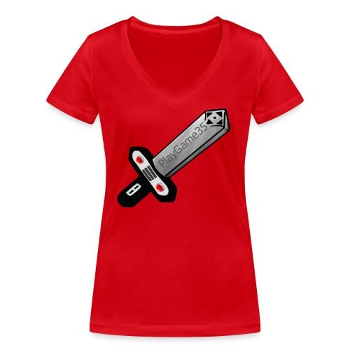 Logo PlayGame35 - T-shirt ecologica da donna con scollo a V di Stanley & Stella