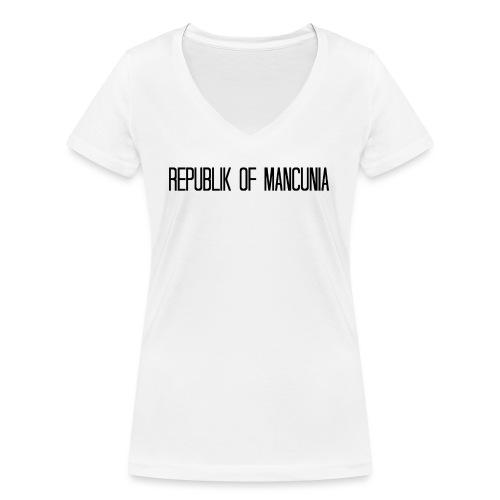 Republik of Mancunia - Women's Organic V-Neck T-Shirt by Stanley & Stella