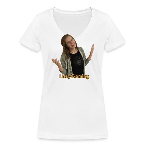 P4150027 freigestellt schrift png - Frauen Bio-T-Shirt mit V-Ausschnitt von Stanley & Stella