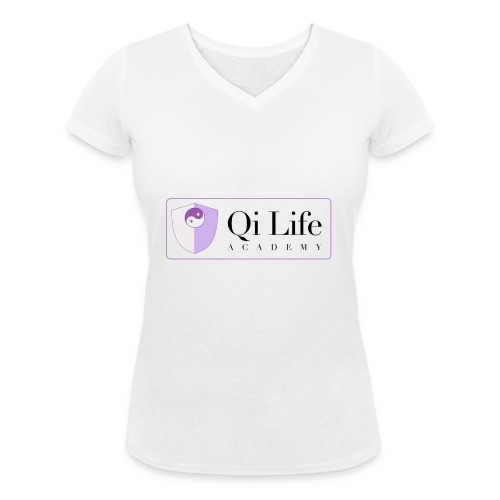 Qi Life Academy Promo Gear - Women's Organic V-Neck T-Shirt by Stanley & Stella