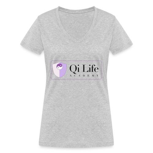 Qi Life Academy Promo Gear - Women's Organic V-Neck T-Shirt by Stanley & Stella