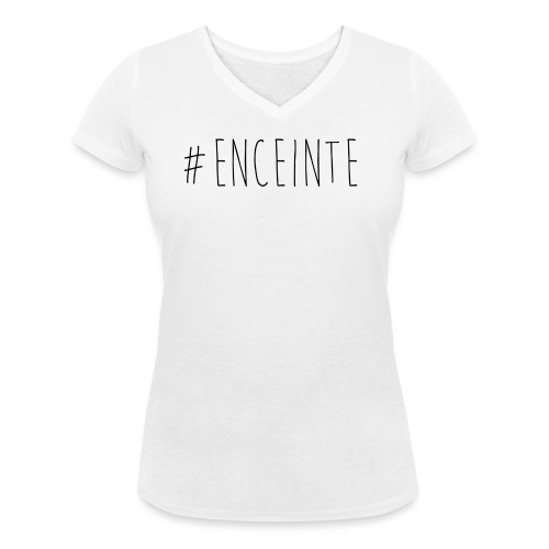 #enceinte - T-shirt bio col V Stanley & Stella Femme