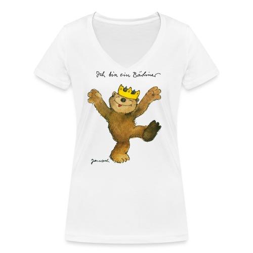 Janosch Kleiner Bär Ich Bin Ein Bärliner - Frauen Bio-T-Shirt mit V-Ausschnitt von Stanley & Stella