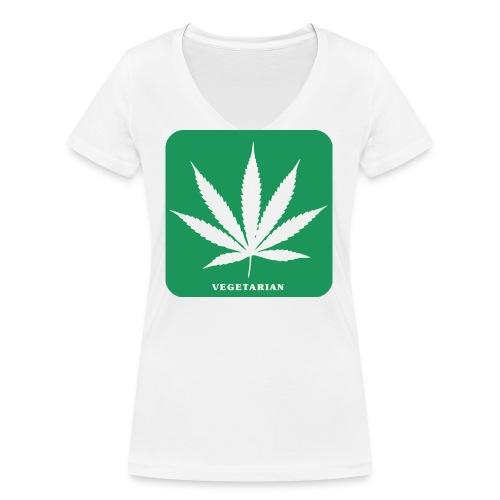 cannabis 154209 png - Frauen Bio-T-Shirt mit V-Ausschnitt von Stanley & Stella