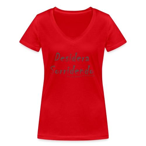 desidera sorridendo - T-shirt ecologica da donna con scollo a V di Stanley & Stella