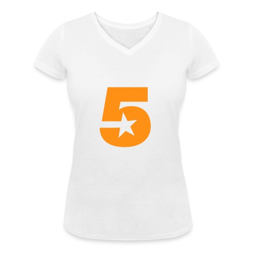 No5 - Women's Organic V-Neck T-Shirt by Stanley & Stella