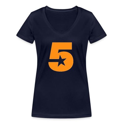No5 - Women's Organic V-Neck T-Shirt by Stanley & Stella