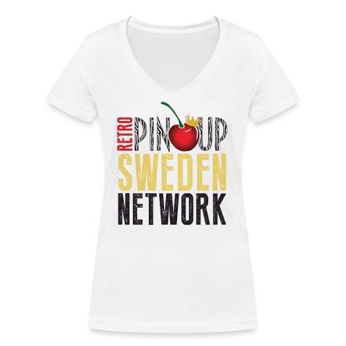 Tanktop Retro Pinup Sweden Crew utsvängd - Ekologisk T-shirt med V-ringning dam från Stanley & Stella