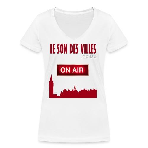 Le Son Des Villes : On Air - T-shirt bio col V Stanley & Stella Femme