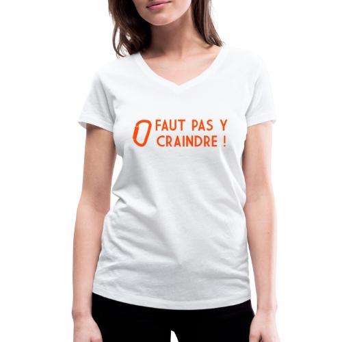 Faut pas y craindre - Escalade - T-shirt bio col V Stanley & Stella Femme
