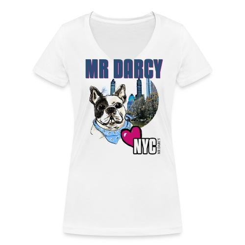 MR DARCY LOVES NYC - Frauen Bio-T-Shirt mit V-Ausschnitt von Stanley & Stella