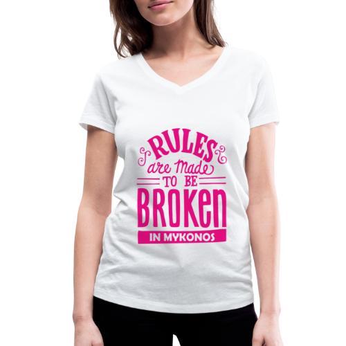 Mykonos Rules - T-shirt bio col V Stanley & Stella Femme
