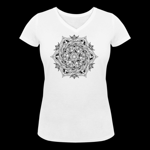 Mandala - T-shirt ecologica da donna con scollo a V di Stanley & Stella