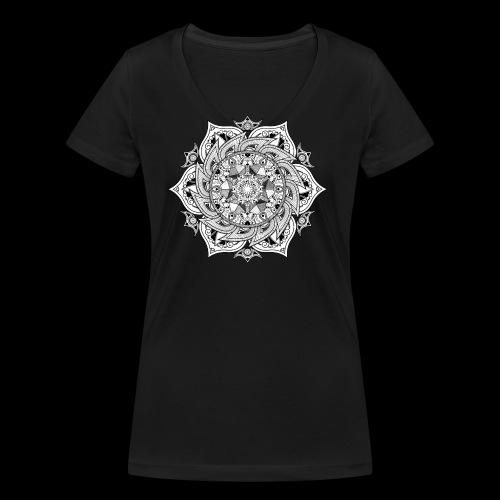 Mandala - T-shirt ecologica da donna con scollo a V di Stanley & Stella