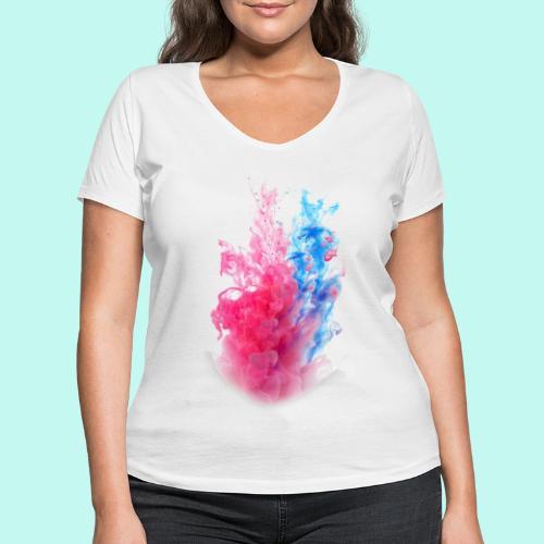 Pink & Blau - Frauen Bio-T-Shirt mit V-Ausschnitt von Stanley & Stella