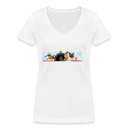 Animaux logo - Vrouwen bio T-shirt met V-hals van Stanley & Stella