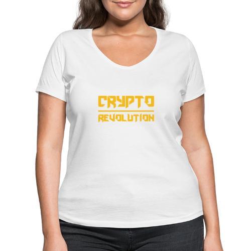 Crypto Revolution III - Women's Organic V-Neck T-Shirt by Stanley & Stella