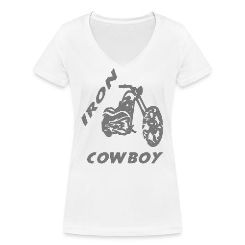 iron cowboy - Frauen Bio-T-Shirt mit V-Ausschnitt von Stanley & Stella