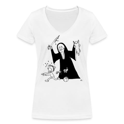 halloween t-skjorte - Økologisk T-skjorte med V-hals for kvinner fra Stanley & Stella