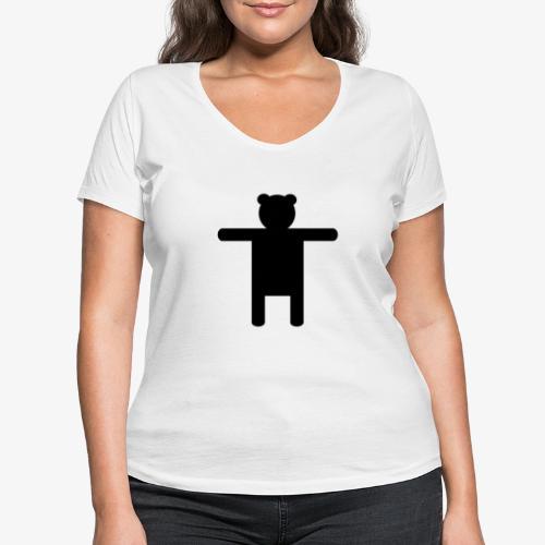 Ippis Entertainment, Black - Stanley & Stellan naisten v-aukkoinen luomu-T-paita