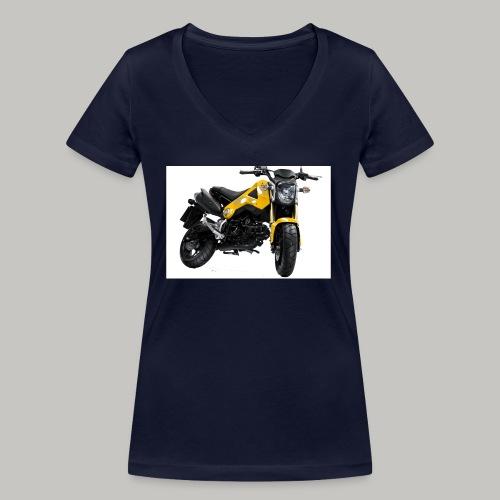 Grom Motorcycle (Monkey Bike) - Women's Organic V-Neck T-Shirt by Stanley & Stella