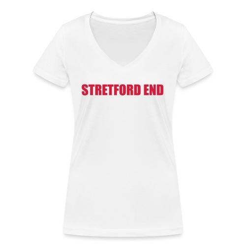 Stretford End - Women's Organic V-Neck T-Shirt by Stanley & Stella