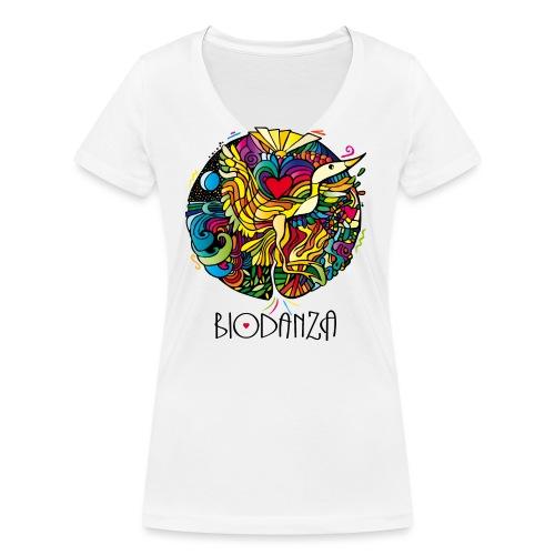 Mosaik Kranich Mandala - Frauen Bio-T-Shirt mit V-Ausschnitt von Stanley & Stella