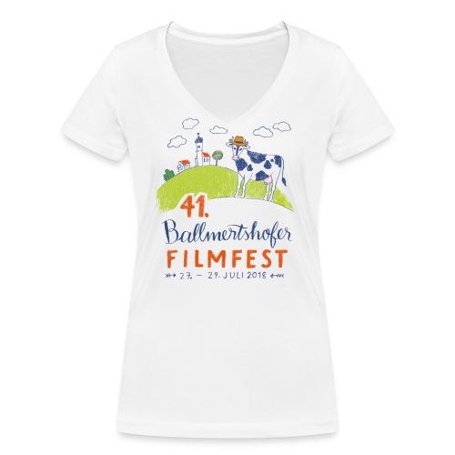 41. Filmfest hell - Frauen Bio-T-Shirt mit V-Ausschnitt von Stanley & Stella