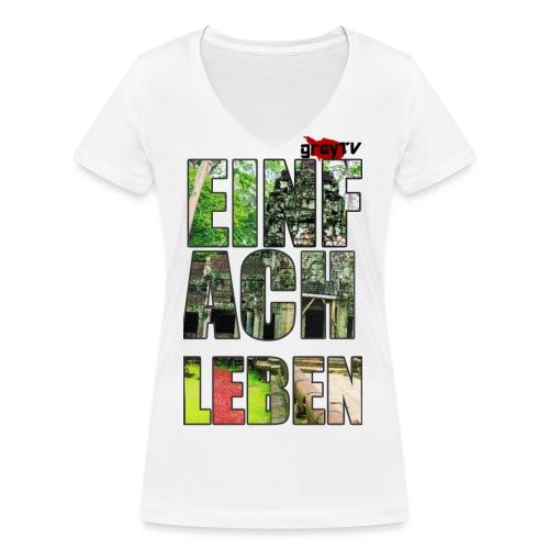 FERTIG SHIRT MIT LOGO png - Frauen Bio-T-Shirt mit V-Ausschnitt von Stanley & Stella